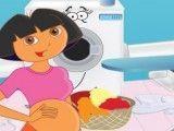 Dora grávida lavar e passar roupas
