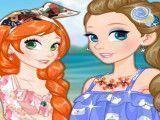 Princesa Rapunzel roupas de praia