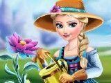 Frozen Elsa no jardim