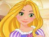 Princesa Rapunzel pintura das unhas
