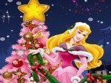 Princesa Aurora decorar árvore de natal