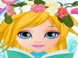 Bebê Barbie penteado de noiva