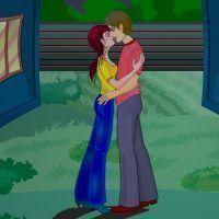 Vizinhos beijando