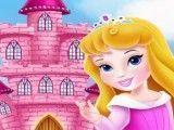Aurora bebê decorar castelo