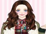 Menina moda inverno