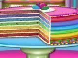 Receita de bolo arco-íris fácil