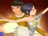 Vestir casal de bailarinos