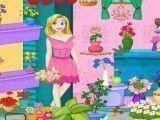 Limpar e arrumar loja das flores Rapunzel