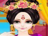 Princesa chinesa penteado