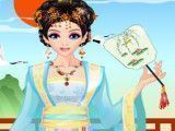 Vestir princesa asiática
