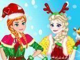 Elsa e Anna no natal