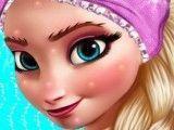 Tratamento de pele e maquiar Elsa