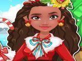 Princesa Moana roupas de natal