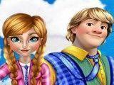 Anna e Kristoff beijos