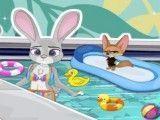 Zootopia limpar piscina