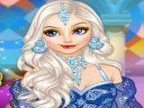 Princesa Elsa roupa da Arábia