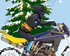 Andar de bike na neve