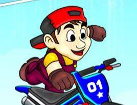 Aventuras de moto do garoto