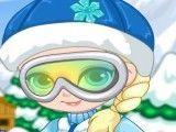 Elsa bebê roupas de esquiar