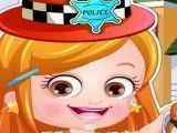 Bebê Hazel roupas de policia