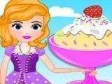 Princesa Sofia preparar sorvete