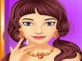 Garota no salão de beleza