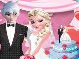 Elsa e Jack decoração do casamento