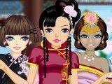 Roupas das meninas da Ásia