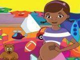 Grávida Doutora Brinquedos limpar quarto