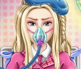 Barbie doente no hospital