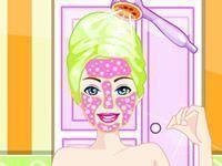 Barbie limpeza de pele e cabeleireiro