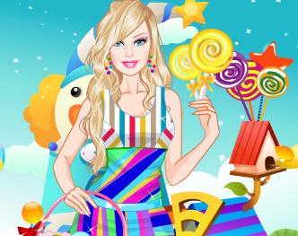 Barbie roupas Candyland