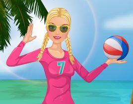 Barbie roupas para jogar vôlei