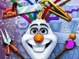 Olaf no cabeleireiro
