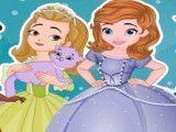 Princesa Sofia e amigas limpar casa