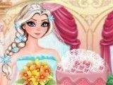 Decoração do bolo da Elsa casamento
