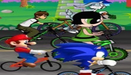 Corrida de bike Sonic, Mario e Ben 10