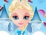 Bebê Barbie penteado da Elsa
