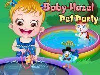 Bebê Hazel cuidar do bichinhos