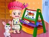 Bebê Hazel pintar desenhos
