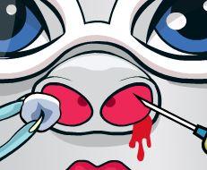 Bebê Monster High médico de nariz