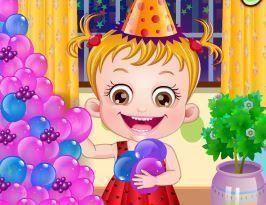 Bebê na festa de aniversário