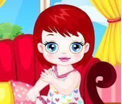 Bebê no cabeleireiro
