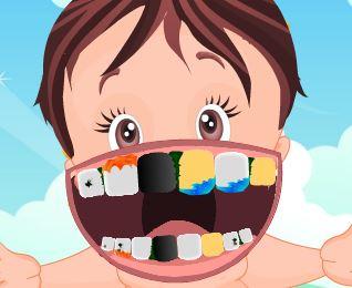 Bebê tratamento dos dentes
