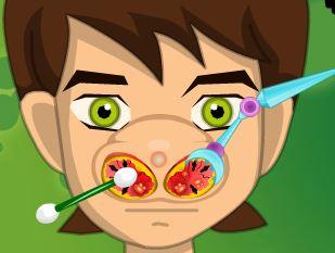 Ben 10 cuidados com nariz