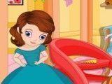 Princesa Sofia fazer limpeza da casa