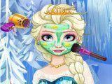 Princesa Elsa cuidar dos machucados e pele