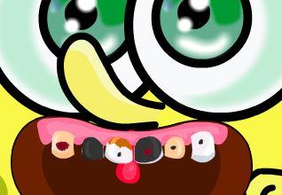 Bob Esponja bebê cuidar dos dentes