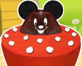 Bolo formato do Mickey