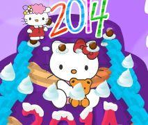 Bolo virada de ano Hello kitty